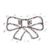 People  shape  bow tie — Stock Photo