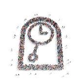 Group  people  shape  watch — Stock Photo