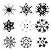 Snowflacke collection — Stock Vector