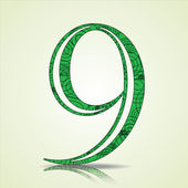 Number of Collection made of swirls - 9 — Cтоковый вектор