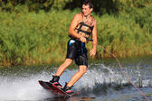 Athlete on the wakeboard — Foto de Stock