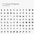 117 Human Pictogram Pixel Perfect Icons — Stock Vector #53521575
