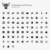 73 Business and Finance Pixel Perfect Icons — Stock Vector