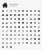 93 Universal Pixel Perfect Icons — Stock Vector