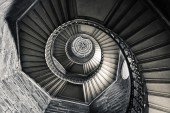 Staircase of tower, Basilica of Fourviere, Lyon, France — Stock Photo