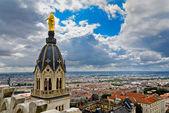Vue du centre-ville de Lyon, Lyon, France — Photo