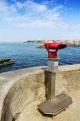 Binocoli e Faro di Biarritz, Francia — Foto Stock