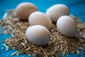 Fresh farm eggs — Stock Photo