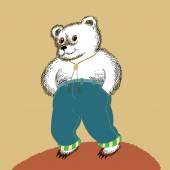Bear in Jeans — Stock Vector