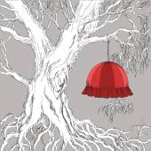 Tree with Lampshade — Stock Vector