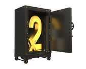 Safe open with factors of numbers x2 — Stock Photo