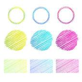 The drawn circles, shading, vector elements. — Stock Vector