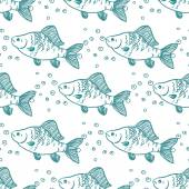 Seamless pattern fish. Perch. Vector  — Stock Vector