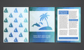 The brochure in polygonal style. Travel, beach, rest, tourism. Vector templates of design. — Stock Vector