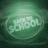 Terug naar school. School pictogrammen op een schoolbord. Vector illustrati — Stockvector