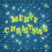 Tekstontwerp van Merry Christmas. Vector — Stockvector