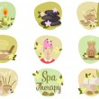 Spa flat icons — Stock Vector #59911553