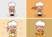 Funny chef Illustration — Vecteur