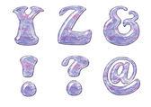 Gel Alphabet — Stock Photo