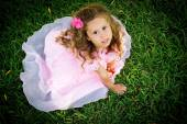 Girl on the grass. — Stock Photo