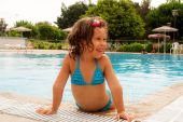 En la piscina. — Foto de Stock