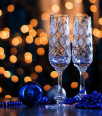 Pair of crystal glasses. — Stock Photo