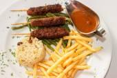 Skewers of meat. — Stock Photo