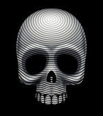 Skull engraving imitation — Stock Vector
