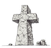 Stone cross — Stock Vector