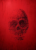 Thumbprint — Stock Vector