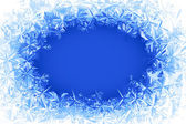 Vector frost frame — Stock Vector