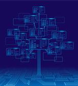 Binary tree — Stock Vector