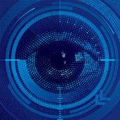 Binary eye — Stock Vector
