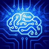 Cyber brain — Stock Vector