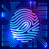 Fingerprint security system — Vector de stock