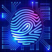 Fingerprint security system — Vettoriale Stock