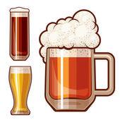 Vector beer — Stock Vector