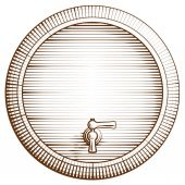 Vector wooden barrel — Stock Vector