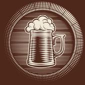 Vector beer glass — Stock Vector