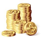 Gold coins — Stock Vector