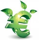 Flourishing euro — Stock Vector