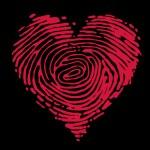 Fingerprint heart — Stock Vector #56284311