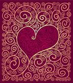 Moldura de coração — Vetor de Stock
