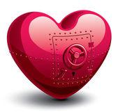 Safe heart — Stock Vector