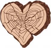 Timber heart — Stock Vector