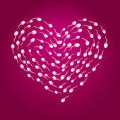Sperm heart — Stock Vector