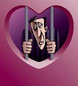 Prisoner of love — Stock Vector