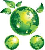Flourishing globe — Stock Vector