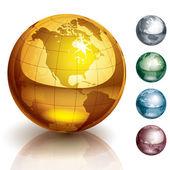 Vettore globi — Vettoriale Stock