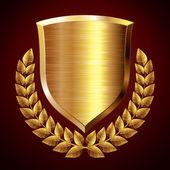 Guld sköld — Stockvektor